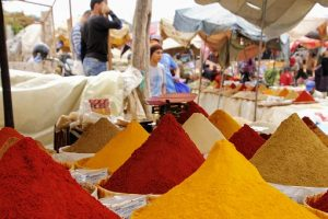 Visit Friday market and buy spices and clothes at same place