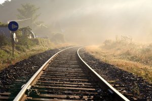 railroad on countryside