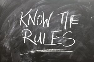 Know the rules written on chalkboard about the corporate side of Kuwait