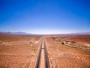 A road in desert
