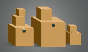 Boxes stockpiled