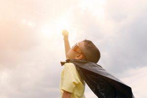A superman-kid