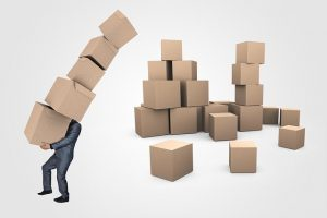 A lot of boxes for cleaning & organizing your storage unit