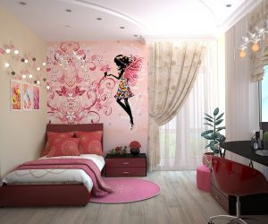 Girls room. Help your kids cope with moving stress by letting them decorate their bedroom