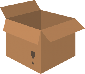 A box for moving.