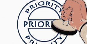 stamp stamping Priority seal