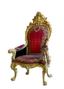 Antique red chair.