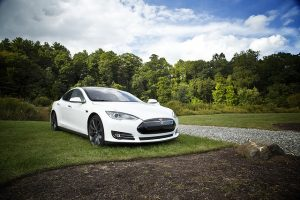 Electric Tesla car