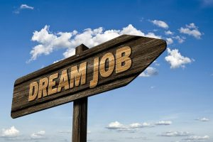 Dream job sign for teaching opportunities in Kuwait.