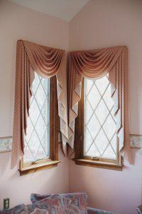 Curtains on the windows.