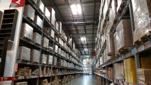 Inside of the warehouse.