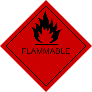Flammable items are items you should transport personally.