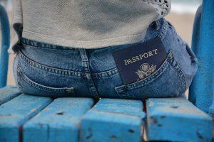 A passport in a pocket