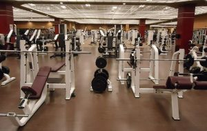 A gym with equipment.