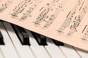 Piano and a sheet of music