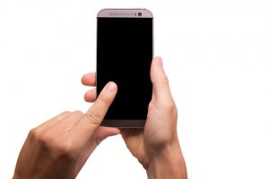 A person holding a phone.