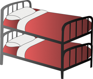 A picture of a bunk bed.