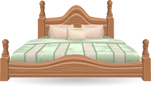 A king size bed with a mattress.