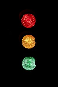 A traffic light.