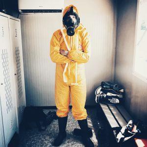 Modern hazmat suit