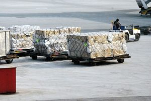Shipment that passed customs clearance process