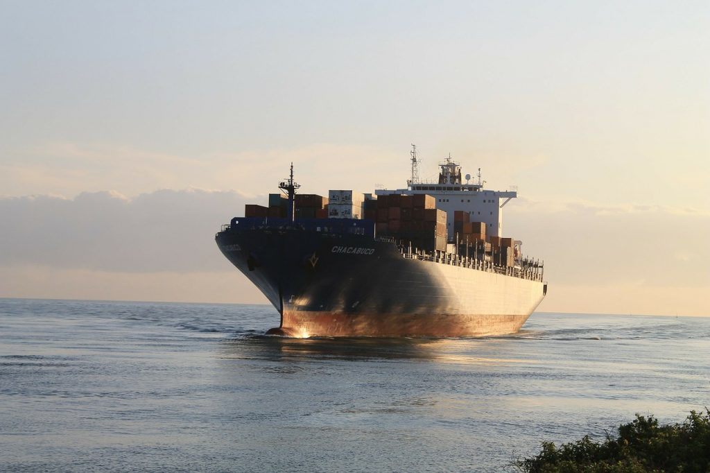 A cargo ship - you can transport your business goods by sea