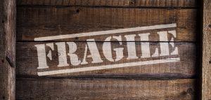 box that says fragile