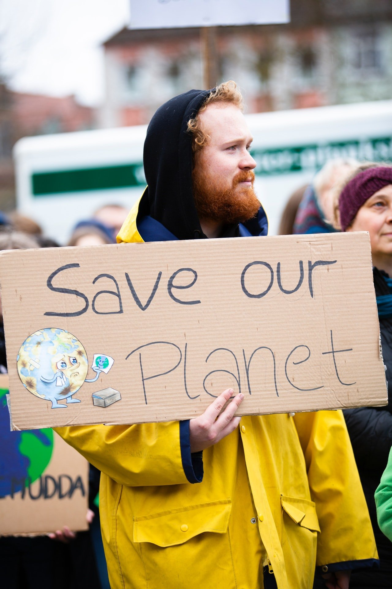 """A sign """"save our planet"""""""