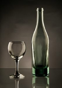 A wine glass and a bottle - Packing for storage unit