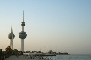 Kuwait Towers and the sea