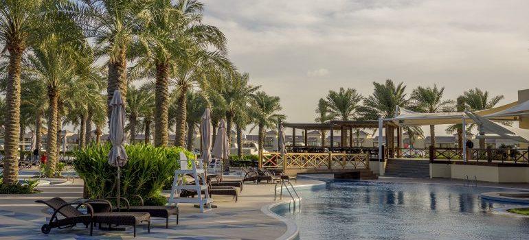 a pool in Bahrain