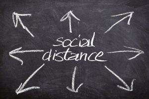 Social distance sign