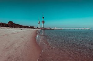 two towers in the beach