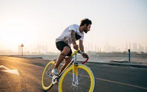 Man driving bike