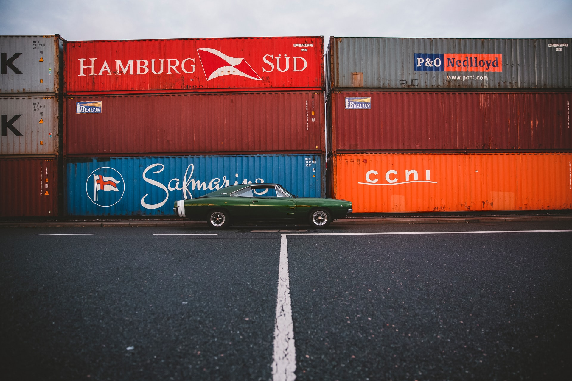 Car and a container which could be your car if you get your car ready for shipping