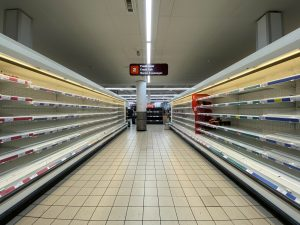 Empty store which shows that construction companies can emerge stronger after coronavirus like some of the companies did