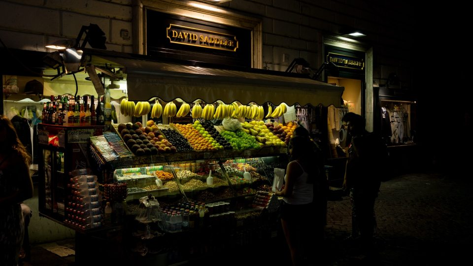 A store with fruits and vegetables