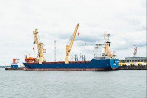 A ship with cargo