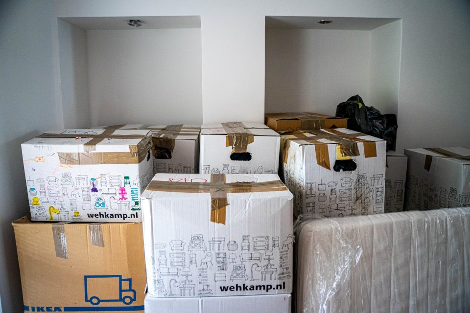 Packed boxes which are one of the moving services you can do without