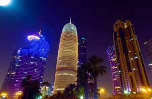 A tower in Qatar
