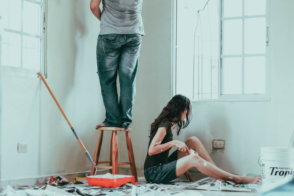A couple try DIY home improvements at their home