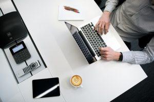 A man on laptop