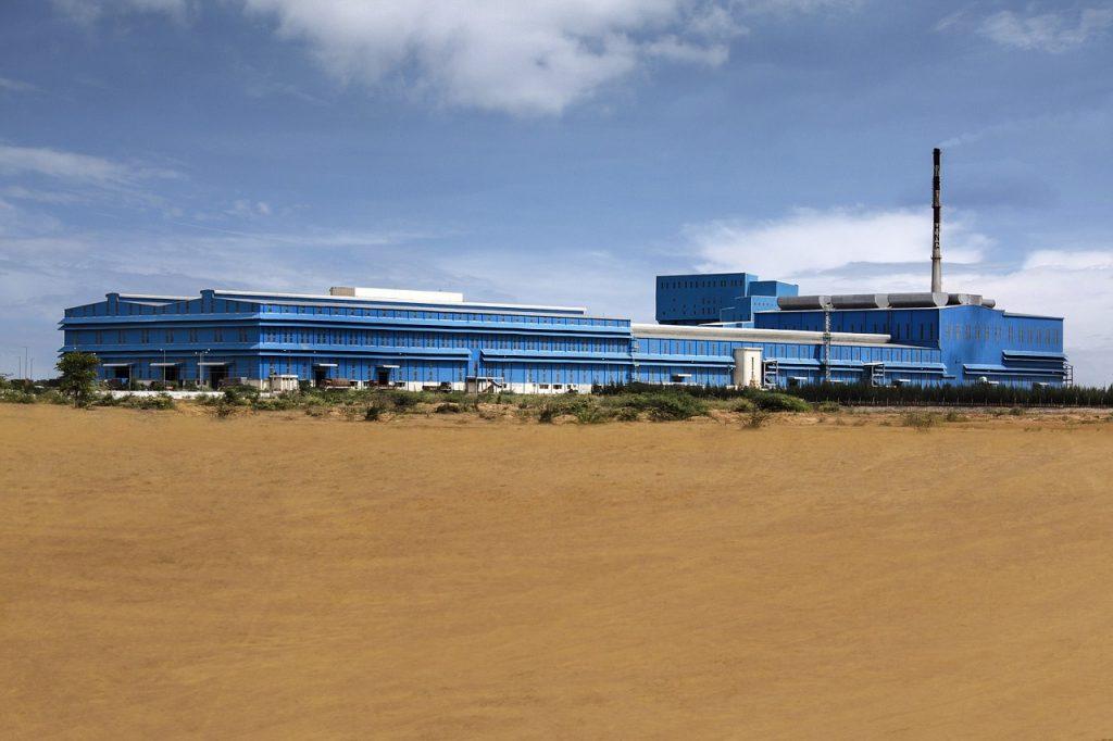 warehouse in a desert