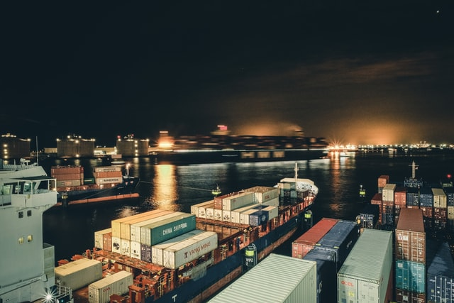 shipping ships on the dock