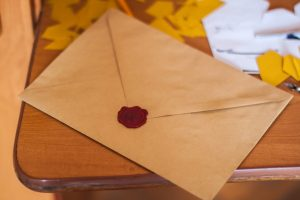 brown paper letter