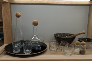 kitchen items made out of glass