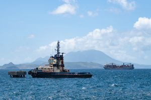 shipping ship on the sea