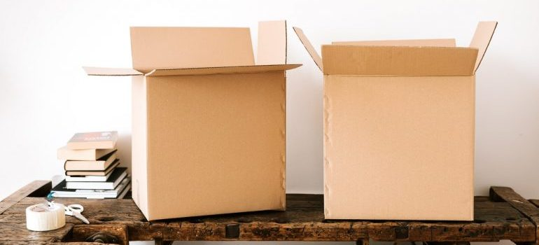 Two moving boxes
