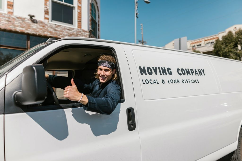 mover in a truck