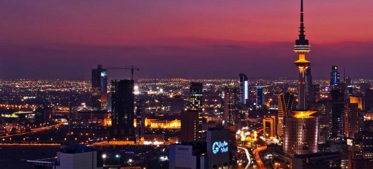 Kuwait at dusk